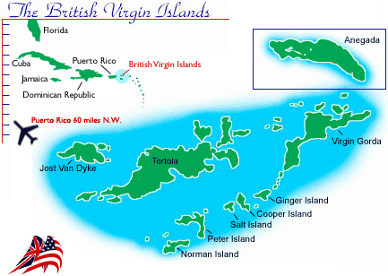 The British Virgin Islands - click on your location